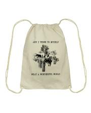 Myself What A Wonderful World Drawstring Bag thumbnail