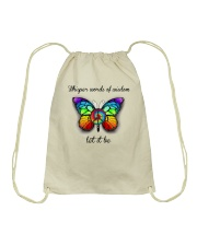 Whisper Words Of Wisdom Let It Be A0001 Drawstring Bag thumbnail