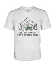 And I Think To Myself D0634 V-Neck T-Shirt thumbnail