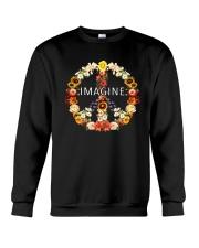 Imagine Flowers Hippie  Crewneck Sweatshirt thumbnail