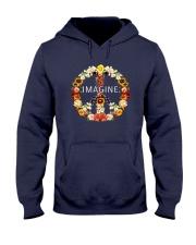 Imagine Flowers Hippie  Hooded Sweatshirt front