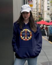 Imagine Flowers Hippie  Hooded Sweatshirt lifestyle-unisex-hoodie-front-5
