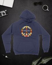 Imagine Flowers Hippie  Hooded Sweatshirt lifestyle-unisex-hoodie-front-9