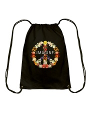 Imagine Flowers Hippie  Drawstring Bag thumbnail