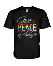 Give Peace A Chance D01146 V-Neck T-Shirt thumbnail