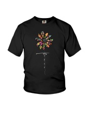 Peace Hippie Flowers A0144 Youth T-Shirt thumbnail