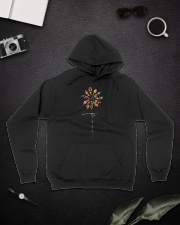 Peace Hippie Flowers A0144 Hooded Sweatshirt lifestyle-unisex-hoodie-front-9