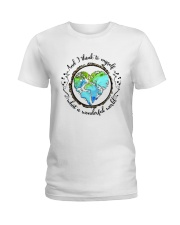 And I Think To Myself D01323 Ladies T-Shirt thumbnail