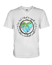 And I Think To Myself D01323 V-Neck T-Shirt thumbnail