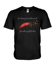 Freedom's Just Another Word D0766 V-Neck T-Shirt thumbnail