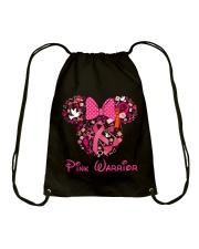 PINK WARRIOR Drawstring Bag front