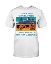 I don't need quarantine I need beer and go camping Premium Fit Mens Tee thumbnail