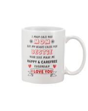 Mom - My Heart Calls You Bestie - White Mug Mug front