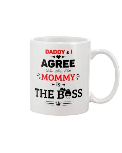 Mommy is the Boss - White Mug