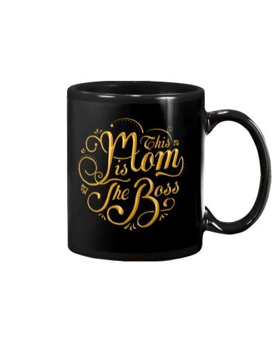 This Mom Is The Boss - Black Mug