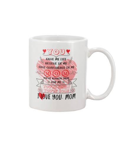 Mom : You are Home - You are Family - White Mug