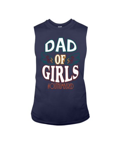 Dad Of Girls Shirt Outnumbered Fathers Day