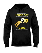 Behind every Great Horse Boy is a MaMa Hooded Sweatshirt thumbnail