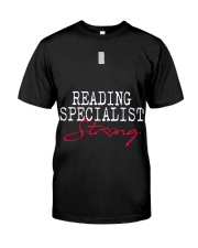 Reading Specialist Strong Sch Classic T-Shirt tile