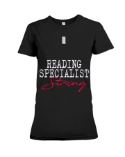 Reading Specialist Strong Sch Premium Fit Ladies Tee tile