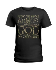Army put on the whole armor of God EPH 611  Ladies T-Shirt thumbnail