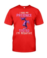 Dragon I had my patience tested Im negative shirt Classic T-Shirt tile