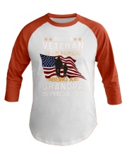 Being a veteran is an honor being a grandpa  Baseball Tee thumbnail