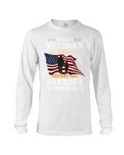 Being a veteran is an honor being a grandpa  Long Sleeve Tee thumbnail