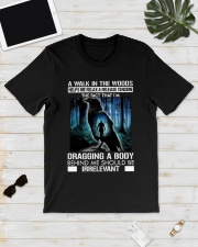 Crow A walk in the woods dragging a body shirt Classic T-Shirt lifestyle-mens-crewneck-front-17