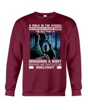 Crow A walk in the woods dragging a body shirt Crewneck Sweatshirt thumbnail