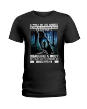 Crow A walk in the woods dragging a body shirt Ladies T-Shirt thumbnail