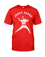 Baseball Jesus saves shirt Classic T-Shirt tile