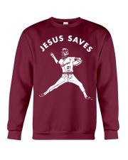 Baseball Jesus saves shirt Crewneck Sweatshirt thumbnail