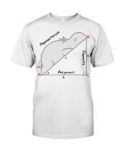 Hippopotenuse Opposite Adjacent Math T shirt Classic T-Shirt front