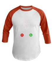 D20 Sorry I missed your call I was on a side Baseball Tee thumbnail