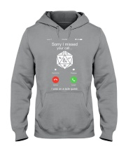 D20 Sorry I missed your call I was on a side Hooded Sweatshirt thumbnail