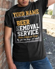 Beer Removal Service Personalized Custom Name  Classic T-Shirt apparel-classic-tshirt-lifestyle-27