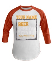 Beer Removal Service Personalized Custom Name  Baseball Tee thumbnail