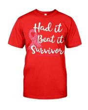 Breast Cancer Had It Beat It Survivor shirt Classic T-Shirt tile