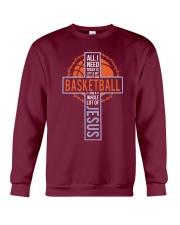 All I Need Today Is Little Bit Of Basketball Crewneck Sweatshirt thumbnail
