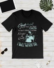 God put me on this earth to sew and finish  Classic T-Shirt lifestyle-mens-crewneck-front-17