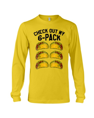 check out my six pack 6 pack tacos tshirt funny