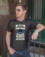 Mess With My Kids Premium Fit Mens Tee lifestyle-mens-crewneck-front-2