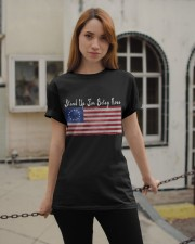 Stand Up For Usa Betsy Ross Flag Shirts Vintage Classic T-Shirt apparel-classic-tshirt-lifestyle-19