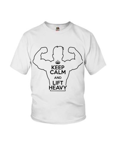 KEEP CALM and LIFT HEAVY T SHIRT