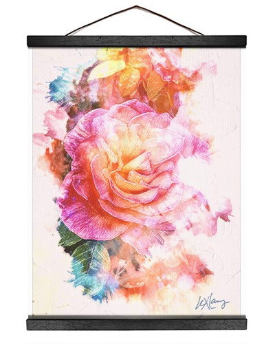 Beautiful Lex Lang Original Floral Print Artwork