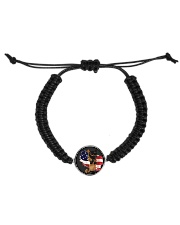 Cat Lover Antique Locket Collection with US Flag Cord Circle Bracelet thumbnail