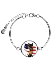 Cat Lover Antique Locket Collection with US Flag Metallic Circle Bracelet thumbnail