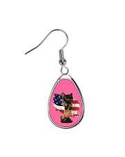 Cat Lover Antique Locket Collection with US Flag Teardrop Earrings thumbnail