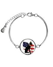 Bastet Gifts For Cat Lovers Metallic Circle Bracelet thumbnail